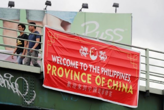 Spanduk Filipina Jadi Provinsi Cina Terbentang di 5 Titik