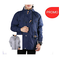 Jaket BB Navy Grey