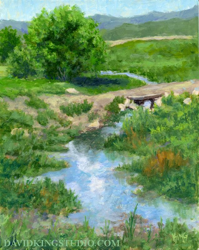 art painting acrylic rural ditch farm ranch Utah