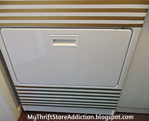 Gold stripe appliance decals