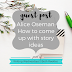 Writing Wednesdays Guest Post: Alice Oseman - How to come up with story ideas