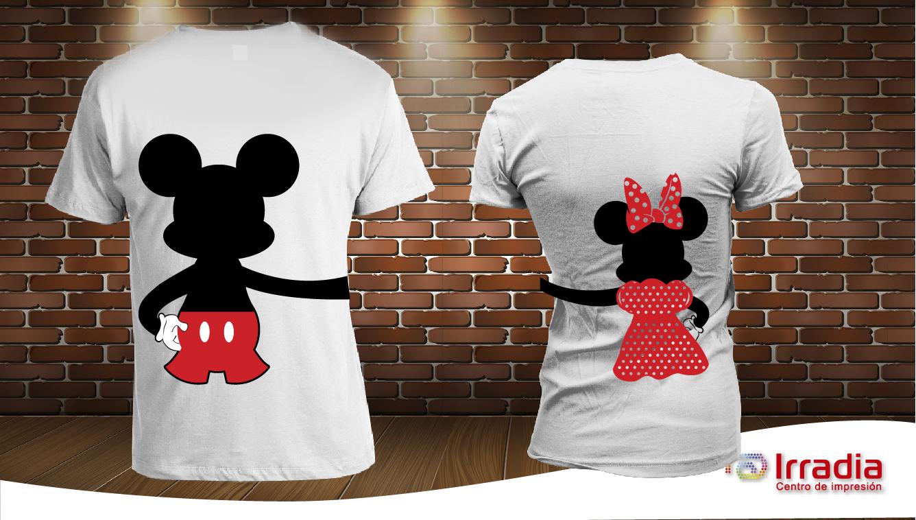 Playera Personalizada Mickey Minnie Mouse 2.   200.00 PLAY-PAR-11 0905033a5f119