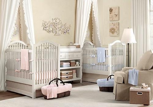 chambre pour bebe jumeaux table de lit. Black Bedroom Furniture Sets. Home Design Ideas