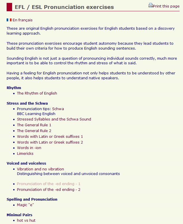 Educational Technology in ELT: Pronunciation related tools