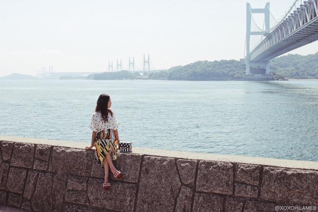 Japanese Fashion Blogger,Mizuho K, Road trip-Okayama 瀬戸大橋