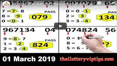 Thai lottery 3up VIP premium free download for 01 March 2019