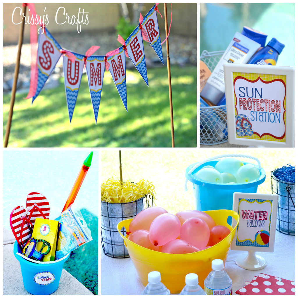 Crissy S Crafts School S Out Splish Splash Pool Party