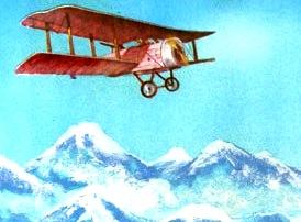 Imagen del aeroplano de Jorge Chávez para niños