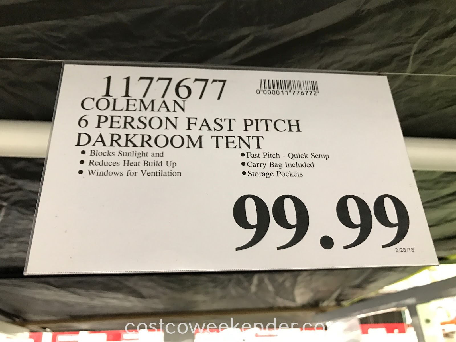 Deal for the Coleman 6-person Fast Pitch Dark Room Dome Tent at Costco
