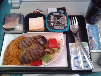 Comida avion Turkish airlines