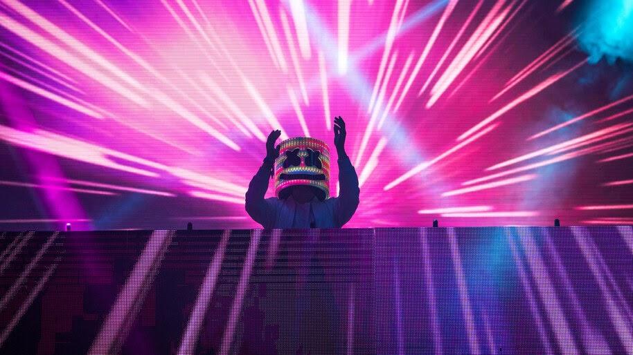 DJ, Marshmello, Neon, Lights, 4K, #4.2594