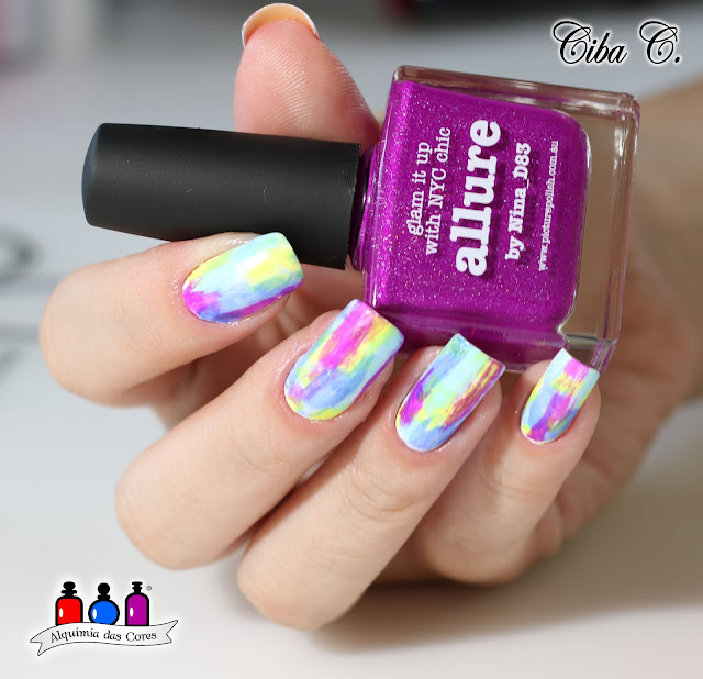 Picture Polish, Cebella, Alquimia das Cores, Allure, Whimsy, Forget me not, Harunouta, Unha colorida,
