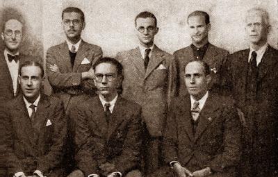 Ajedrecistas participantes en el Torneo Nacional de Ajedrez Fiestas del Pilar Zaragoza 1942