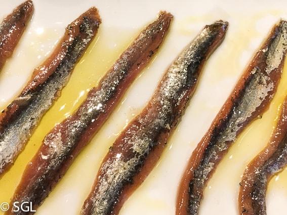 Comer en Bilbao. Anchoas restaurante Nido