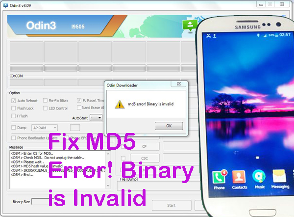 Trik Memperbaiki Gagal Flash Samsung Galaxy S3 GT-I9305 MD5 Error! Binary is Invalid