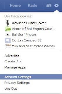 Gambar merubah tampilan bahasa facebook