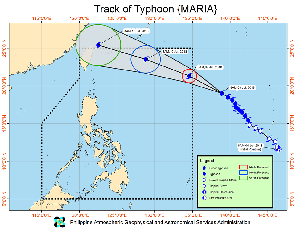 track of typhoon Maria