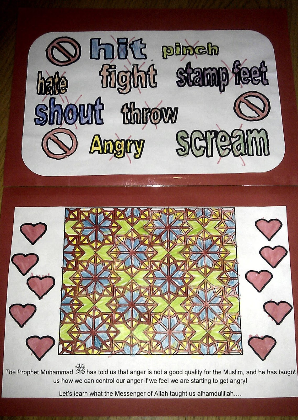 Iman S Home School Controlling Anger Workbook