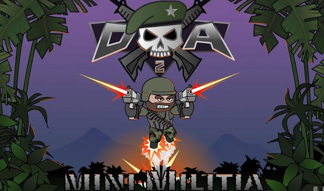 b9baf02b58719 لعبة Doodle Army 2   Mini Militia رائعة ومذهلة ومسلية تحتوى الكثير من  الاسلحة مثل القذائف والبنادق وقاذفة اللهب والقناصة والكثير من الاسلحة .