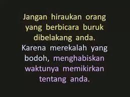 Jangan Pedulikan Omongan Orang Lain