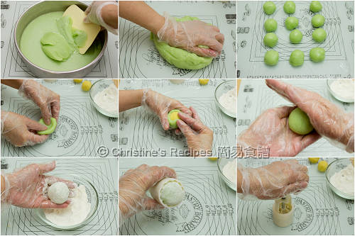 班蘭冰皮月餅製作圖 How To Make Pandan Snow Skin Mooncakes02