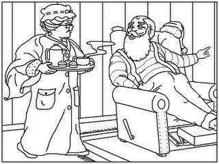 Mamá Claus Para Colorear Dibujos Para Colorear Dibujos Para