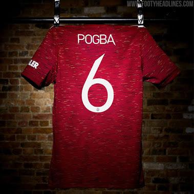 Brandneue Manchester United 20-21 Trikot-Schriftart ...