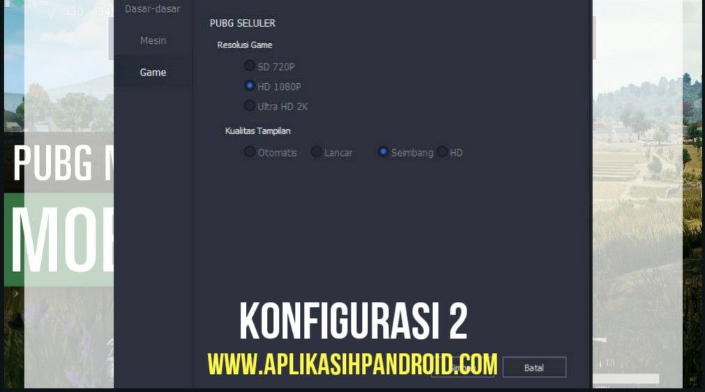 Cara Konfigurasi Game PUBG Mobile via PC pada Emulator 3