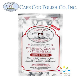CAPE COD Polishing Cloths (2 Pieces - Foil Pouch)
