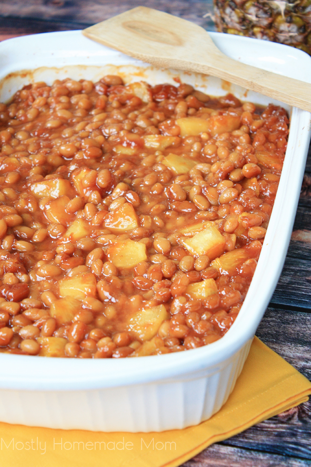 baked beans with pineapple
