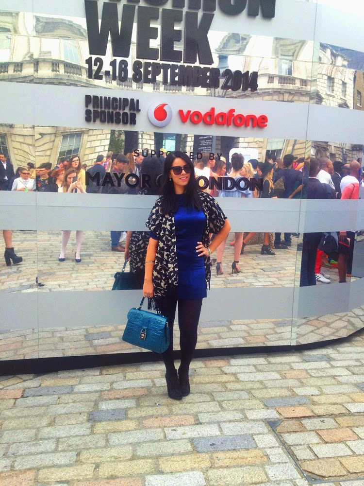 Blogger Emma Louise Layla at London Fashion Week