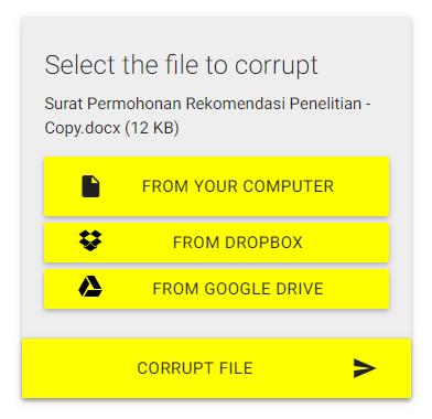 Cara Membuat File Menjadi Corrupt Tidak Bisa Dibuka