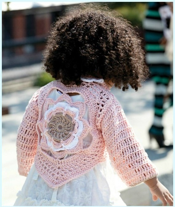 ergahandmade: Crochet Flower Child\'s Sweater + Diagram + Free Pattern