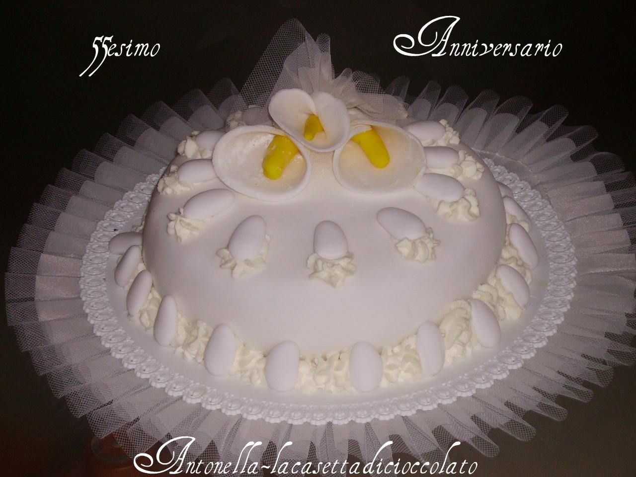Top la casetta di cioccolato: torta 55esimo anniversario di matrimonio PZ43