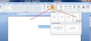 Insert New Equation Word 2007