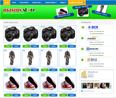 MasgusStore Blogger Template