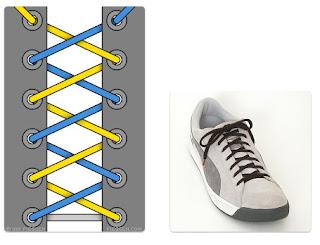 Tali Sepatu Unik Silang-Silang (Cris Cross Lacing)
