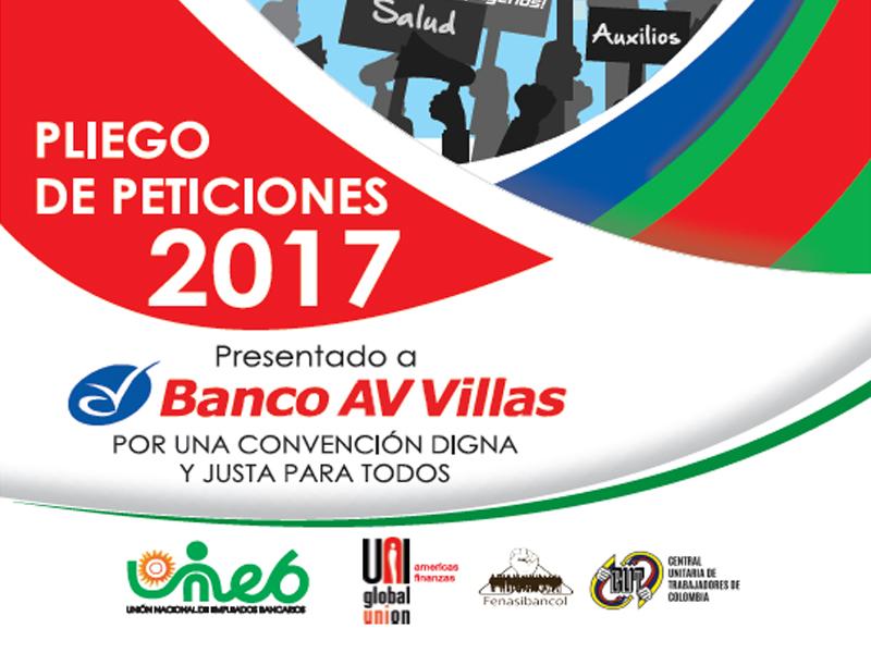 Pliego de peticiones Av Villas 2017
