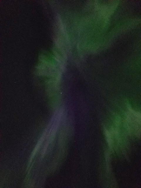 Amazing show of Aurora Borealis aka Northern lights