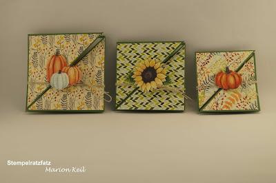 Diagonalfaltkarte Herbst mit Stampin´ Up!