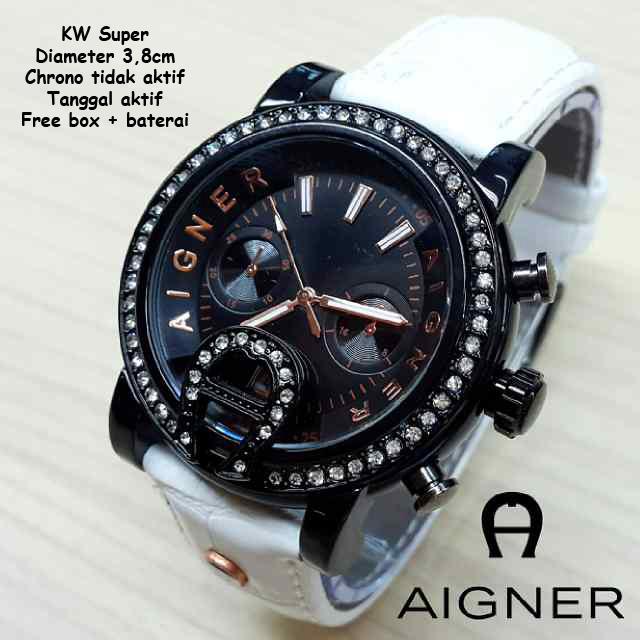 Jam Tangan Aigner Diamond Colour Leather White - Watch-ID - Jual Jam ... 1bd3b19a4c