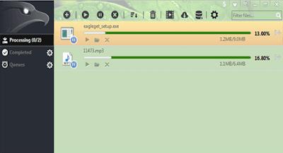 EagleGet Free Download manager Window