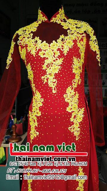 Cho thuê áo dài bưng quả nam nữ, áo dài cưới cô dâu