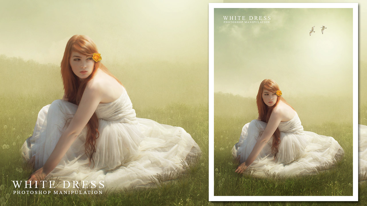 Create a Portrait White Dress Photo Manipulation In Photoshop