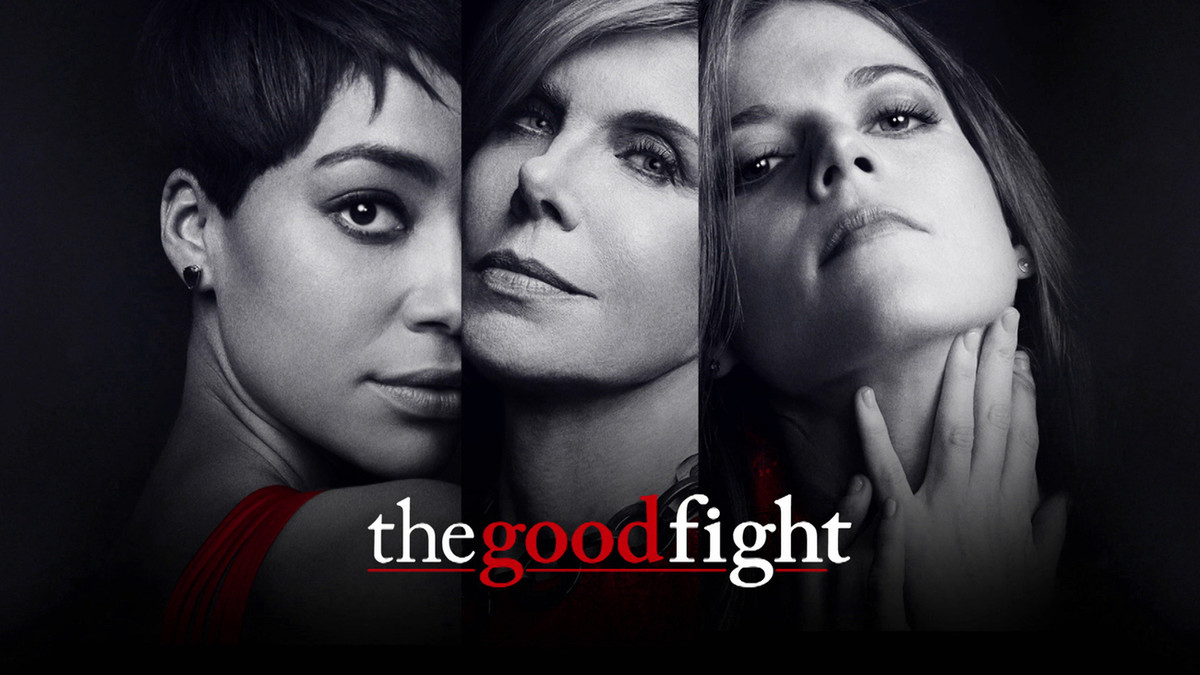 Poster promocional de The Good Fight, protagonizado por Christine Baransky, Crush Jumbo y Rose Leslie