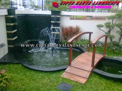 kolam taman belakang | CIPTA LANDSCAPE : jasa tukang taman
