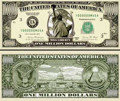 1 million dollar banknote | Lunaticg Coin