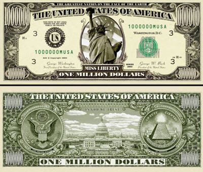 1 Million Dollar Banknote