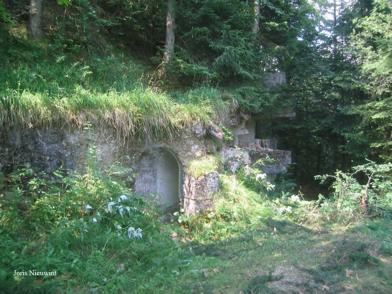 Foundations of the original tea house on the Mooslahnerkopf