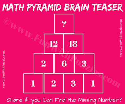 It is maths puzzle challenge in which one has to find the missing number